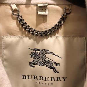 Burberry Jackets & Coats - Authentic Burberry Tan Cashmere Wool Blend Coat S4